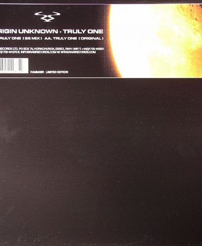 ORIGIN UNKNOWN - Truly One