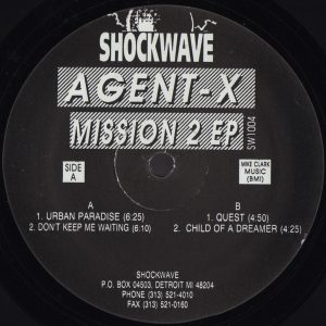 Agent-X ‎– Mission 2 EP - Shockwave Records