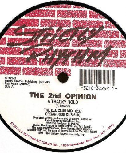 The 2nd Opinion – A Tracky Hold - Strictly Rhythm
