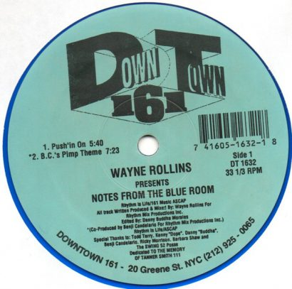 Wayne Rollins – Notes From The Blue Room