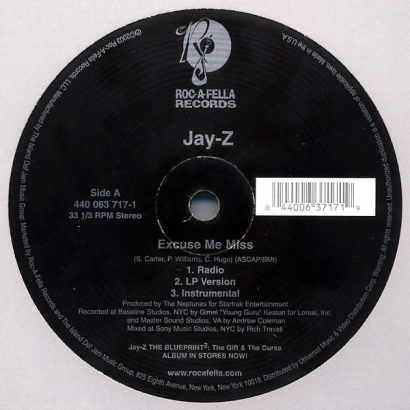 Jay-Z ‎– Excuse Me Miss - The Bounce