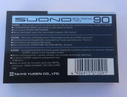 That's SUONO 90 blank metal audio cassette tape