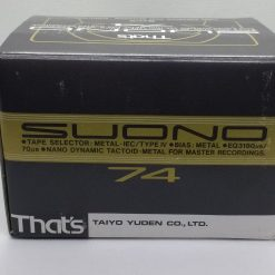 Thats SUONO 74 - Box of 5 Blank Metal Audio Cassettes - New and sealed
