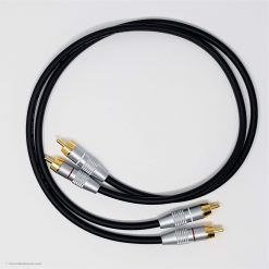 RCA Phono Gold Plated Hi Fi Interconnect Van Damme Cable 0.5 M Black