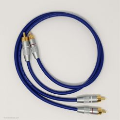 RCA Phono Gold Plated Hi Fi Interconnect Van Damme Cable 0.5 M Blue