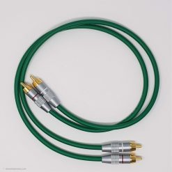 RCA Phono Gold Plated Hi Fi Interconnect Van Damme Cable 0.5 M Green