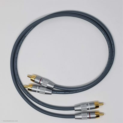 RCA Phono Gold Plated Hi Fi Interconnect Van Damme Cable 0.5 M Grey