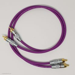 RCA Phono Gold Plated Hi Fi Interconnect Van Damme Cable 0.5 M Purple