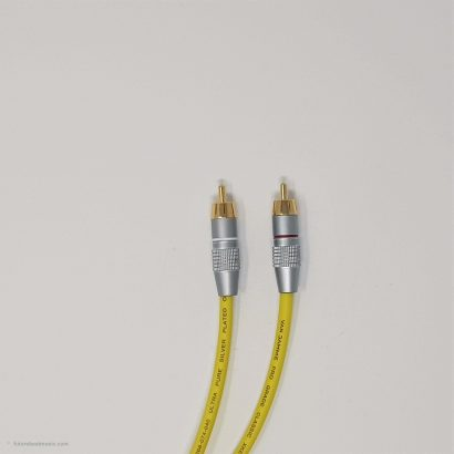 RCA Phono Gold Plated Hi Fi Interconnect Van Damme Cable 0.5 M Yellow