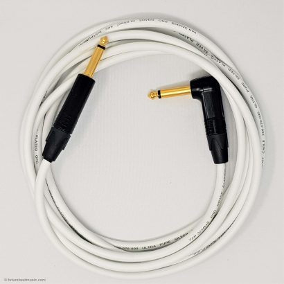 Van Damme Cable Guitar Lead Gold Neutrik Straight to Right Angle Jack Plug