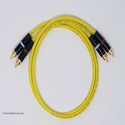 RCA Phono Gold Plated Hi Fi Interconnect Van Damme Cable YELLOW
